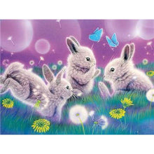 Load image into Gallery viewer, 5D DIY Diamond Painting Kits Cartoon Dream Rabbits on the Grass - 4