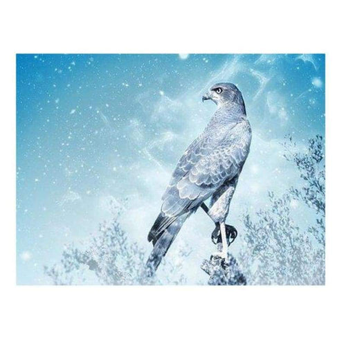 5D DIY Diamond Painting Kits Fantastic Winter Forest Cool Eagle - 4