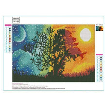 Load image into Gallery viewer, Full Drill - 5D DIY Diamond Painting Kits Sun and Moon Romantic love Tree - NEEDLEWORK KITS