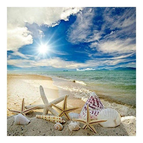 5D DIY Diamond Painting Kits Romantic Starfish Shell Beach Summer