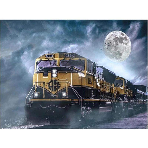 Full Drill - 5D DIY Diamond Painting Kits Dream Moon Cool Train - NEEDLEWORK KITS