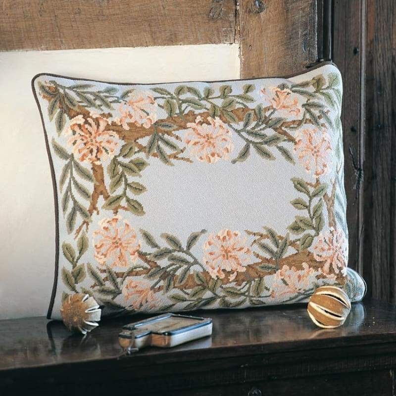 Honeysuckle Border (Grey Background) - Tapestry And Needlepoint