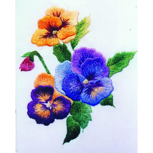 Sprig of Pansies - NEEDLEWORK KITS