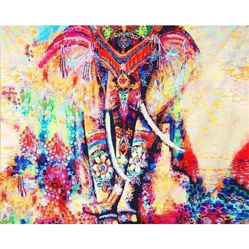 Full Drill - 5D DIY Diamond Painting Kits Colorful Elephant - NEEDLEWORK KITS