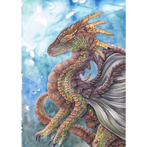 5D DIY Diamond Painting Kits Fantasy Colorful Dragon - 3
