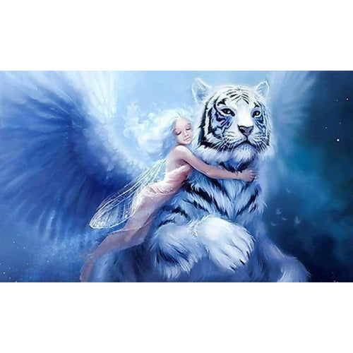 5D DIY Diamond Painting Kits Fantasy Dream Beauty And Animal Tiger - 5