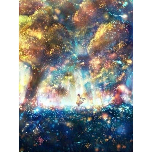 Full Drill - 5D DIY Diamond Painting Kits Fantasy Dream Colorful Fairyland Magic Forest - NEEDLEWORK KITS