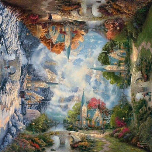 5D DIY Diamond Painting Kits Fantasy Dream Magic Forest House