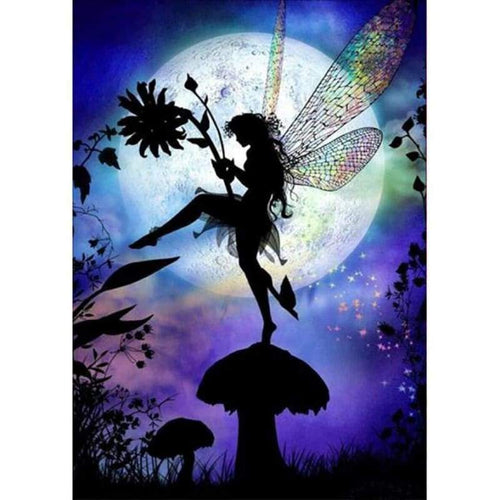 5D DIY Diamond Painting Kits Fantasy Dream Moon Sky Fairy - 4