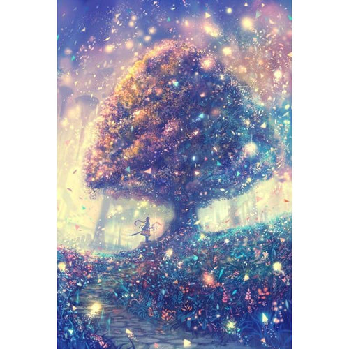 5D DIY Diamond Painting Kits Fantasy Starry Sky Tree - 4