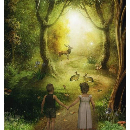 5D DIY Diamond Painting Kits Fantasy Boy And Girl in the Forest