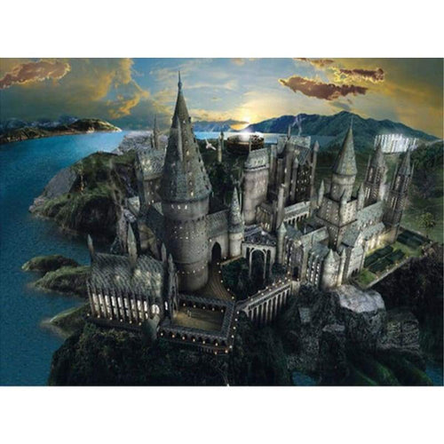 Full Drill - 5D DIY Diamond Painting Kits Fantasy Grand Magic School Castle - NEEDLEWORK KITS