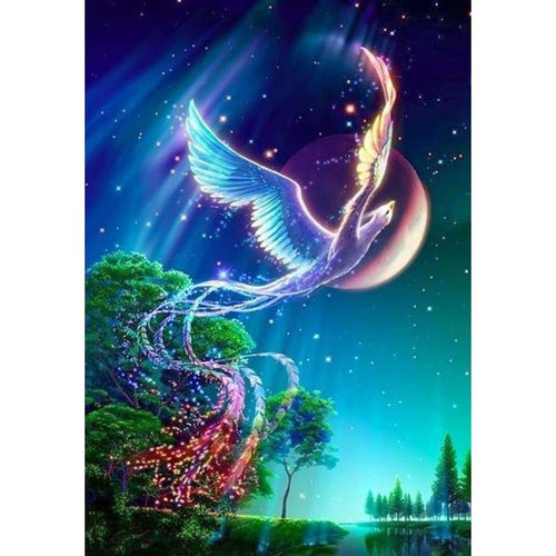 5D DIY Diamond Painting Kits Fantasy Starry Sky Colorful Phoenix - 4