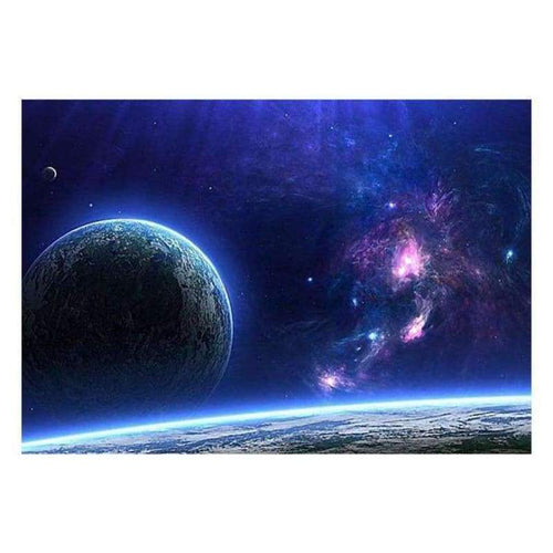 5D DIY Diamond Painting Kits Fantasy Dream Blue Starry Universe - 5