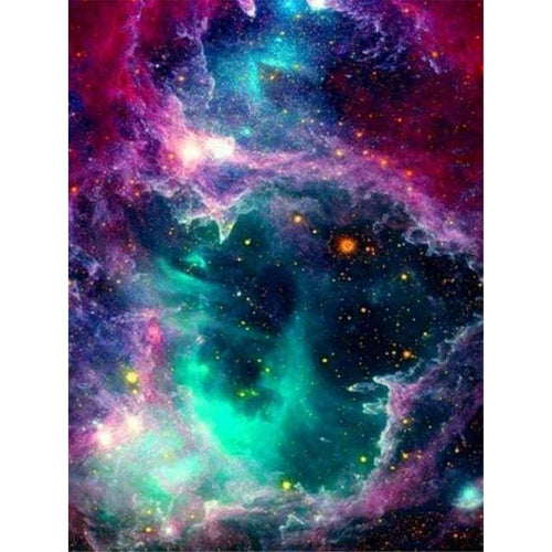 5D DIY Diamond Painting Kits Fantasy Colorful Starry Sky - 4