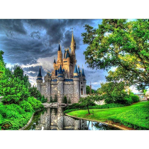 5D DIY Diamond Painting Kits Cartoon Forest Grand Castle - 3