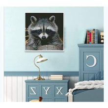 Load image into Gallery viewer, Full Drill - 5D DIY Diamond Painting Kits Cute Raccoon - NEEDLEWORK KITS