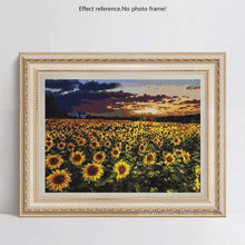 Load image into Gallery viewer, Full Drill - 5D DIY Diamond Painting Kits Sunset Plant Sunflower Field Scene - NEEDLEWORK KITS
