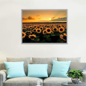 Full Drill - 5D DIY Diamond Painting Kits Sunset Plant Sunflower Field - NEEDLEWORK KITS