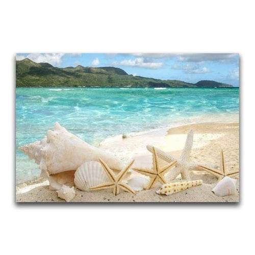 5D DIY Diamond Painting Kits Seaside Starfish - 5