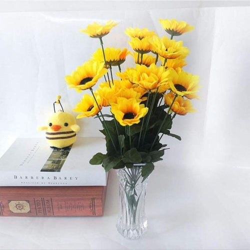 5D DIY Diamond Painting Kits Pure Yellow Sunflower in Glass
