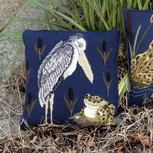 Frog & Stork - Tapestry And Needlepoint