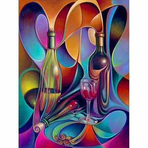 Full Drill - 5D DIY Diamond Painting Kits Colorful Abstract Bottle