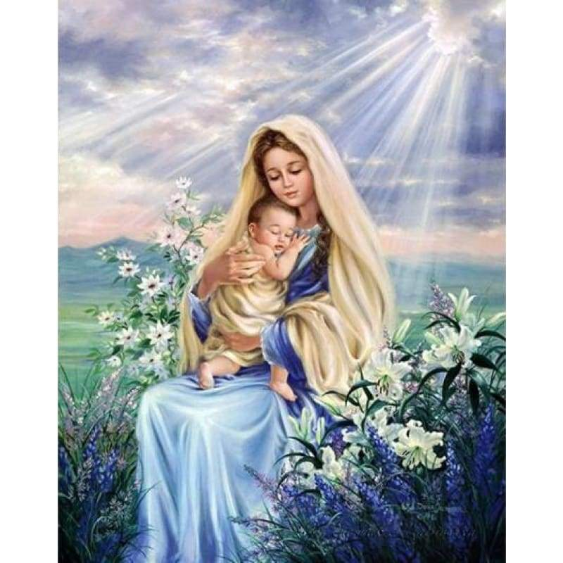 Full Drill - 5D DIY Diamond Painting Kits Virgin Mary Religious - NEEDLEWORK KITS