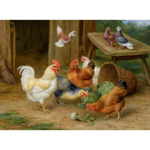 5D DIY Diamond Painting Kits Cartoon Farm Cocks - 3