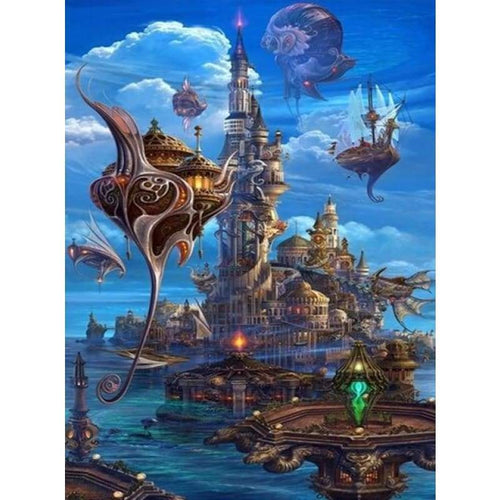 5D DIY Diamond Painting Kits Dream Mysterious Castle in the Sky - 4