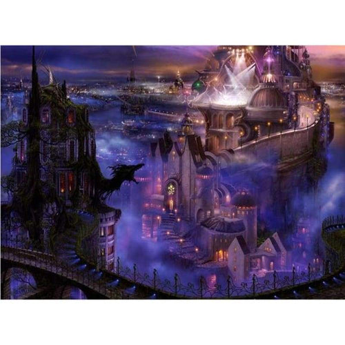 Full Drill - 5D DIY Diamond Painting Kits Dream Night Castle - NEEDLEWORK KITS
