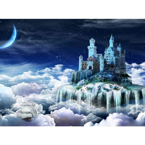 5D DIY Diamond Painting Kits Dream Castle in the Cloud - 3