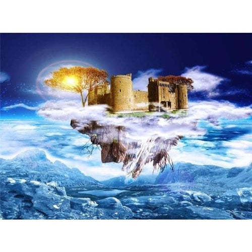 5D DIY Diamond Painting Kits Fantasy Castle in the Sky - 4
