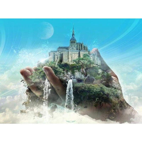 5D DIY Diamond Painting Kits Fantasy Castle in Hand - 3