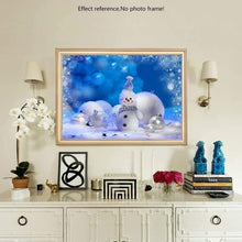 Load image into Gallery viewer, Full Drill - 5D DIY Diamond Painting Kits Winter Cute Snowman - NEEDLEWORK KITS