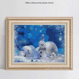 Full Drill - 5D DIY Diamond Painting Kits Winter Cute Snowman - NEEDLEWORK KITS