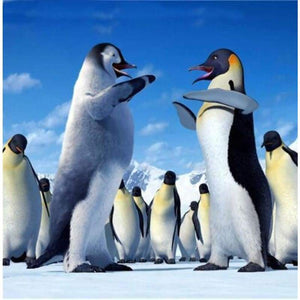 5D DIY Diamond Painting Kits Cartoon Funny Penguins