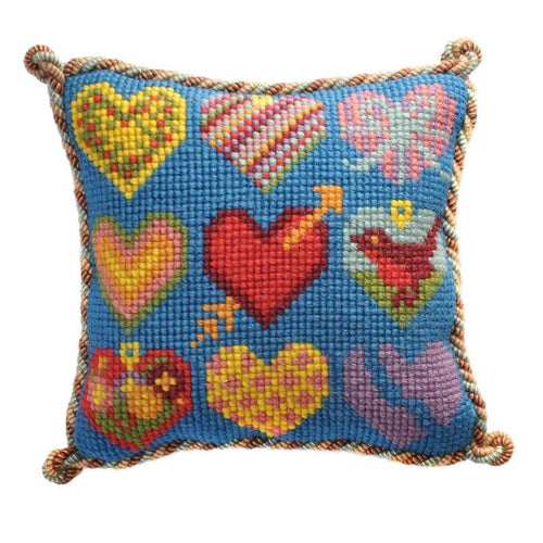 Hearts Mini Kit Needlepoint Kit Elizabeth Bradley Design