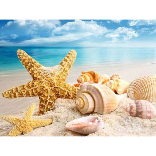 5D DIY Diamond Painting Kits Shell Starfish Beach - Z0