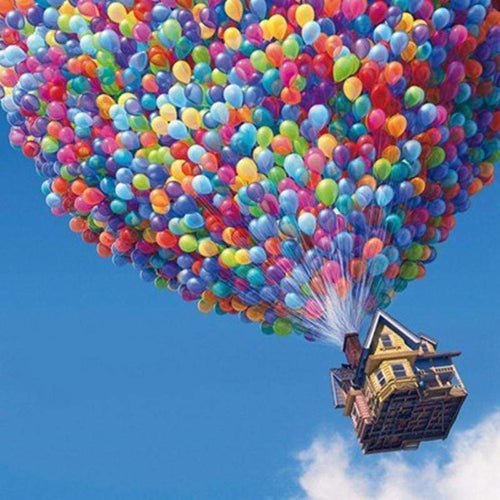 5D DIY Diamond Painting Kits House Balloons in the Sky - Z0