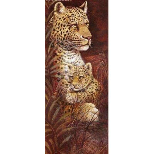 5D DIY Diamond Painting Kits Animal Leopard Family - ZT