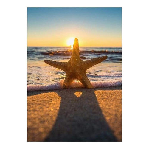 5D DIY Diamond Painting Kits Beach Starfish Summer Scene - 4