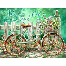 Load image into Gallery viewer, Full Drill - 5D DIY Diamond Painting Kits Cartoon Bicycle Flowers