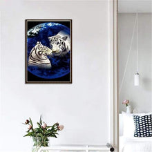 Load image into Gallery viewer, 5D DIY Diamond Painting Kits Cartoon Dream Animal Loving Tigers - 4