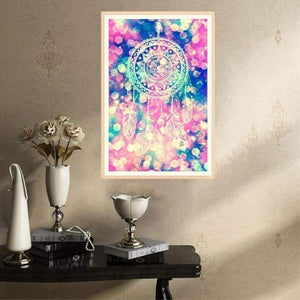 Full Drill - 5D DIY Diamond Painting Kits Dream Colorful Catcher Feathers - NEEDLEWORK KITS