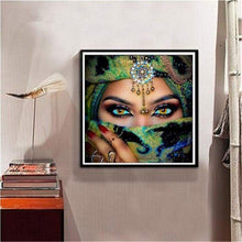 Load image into Gallery viewer, 5D DIY Diamond Painting Kits Mysterious Masked Beauty Eyes