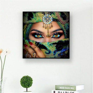 5D DIY Diamond Painting Kits Mysterious Masked Beauty Eyes