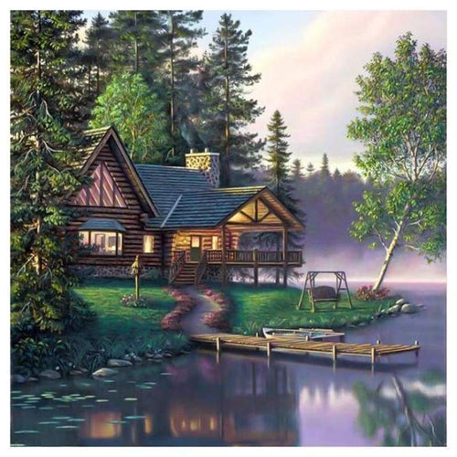 5D DIY Diamond Painting Kits Dream Cartoon Pretty Cottage