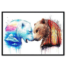 Load image into Gallery viewer, Full Drill - 5D DIY Diamond Painting Kits Dream Colorful Autumn and Winter Bears - NEEDLEWORK KITS