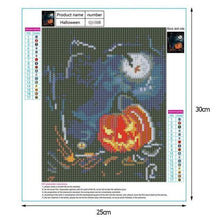 Load image into Gallery viewer, 5D DIY Diamond Painting Kits Cartoon Halloween Pumpkin Lamp - 3